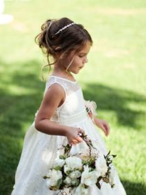 messy bun flower girl hairstyles