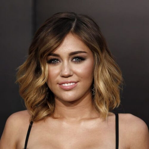 miley cyrus brown ombre hair