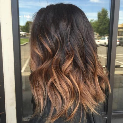 milk chocolate and caramel combo brown ombre hair