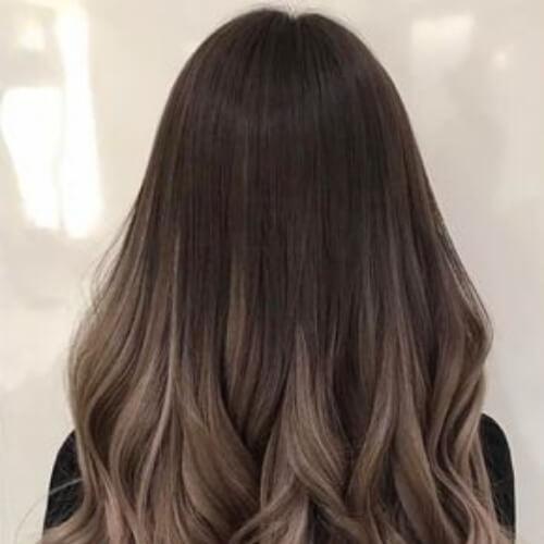 mushroom brown ombre hair