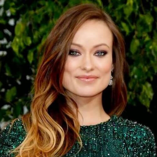 olivia wilde brown ombre hair