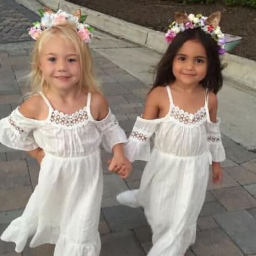 summer country flower girl hairstyles