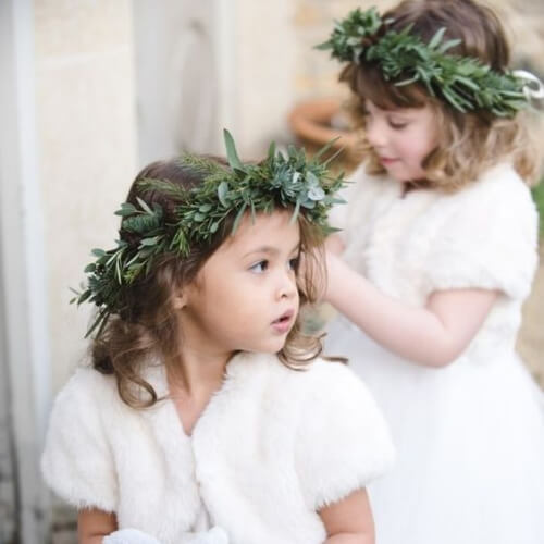 winter flower girl hairstyles