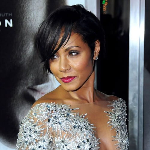 jada pinkett smith pixie cut with long bangs