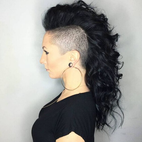 long curly mohawk