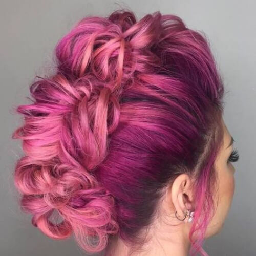 orchid curly mohawk
