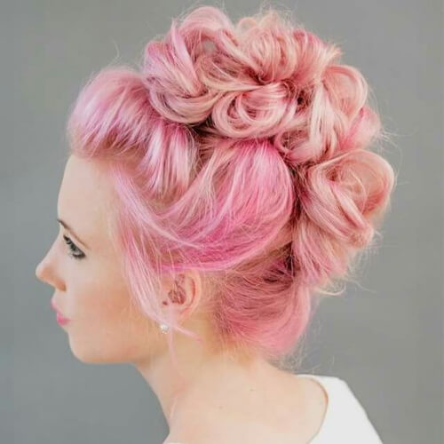 pink curly mohawk