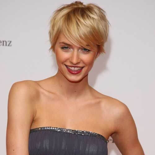 prom pixie cut with long bangs
