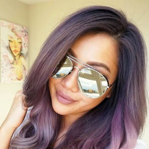aubergine ombre hair color for summer