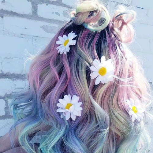 lavender and blue hair color for summer
