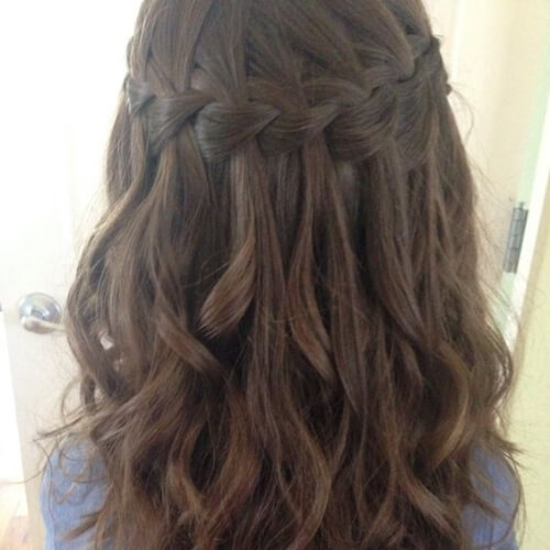 50 Free Flowing Captivating Waterfall Braid With Curls Hair Motive Hair Motive