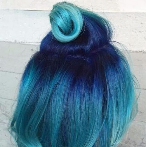 ocean blue hair color for summer