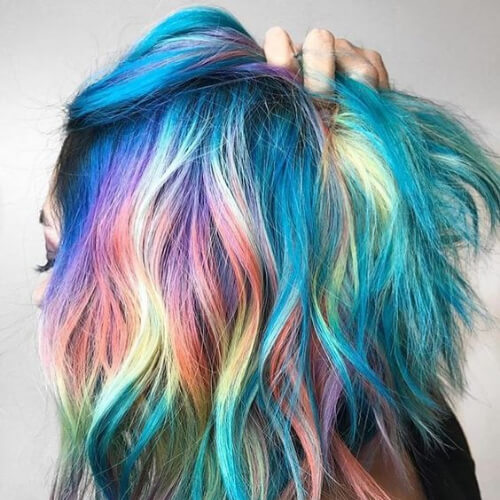 rainbow hair color for summer