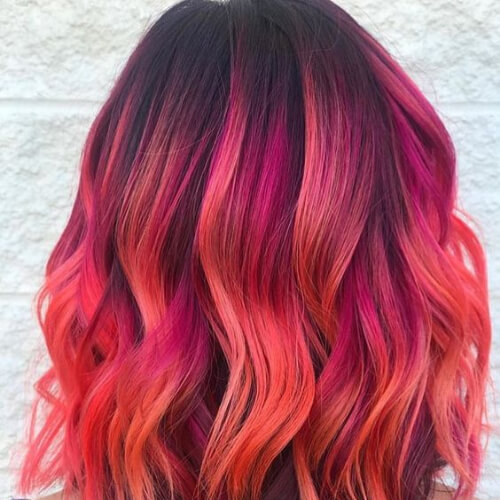 sunset hair color for summer