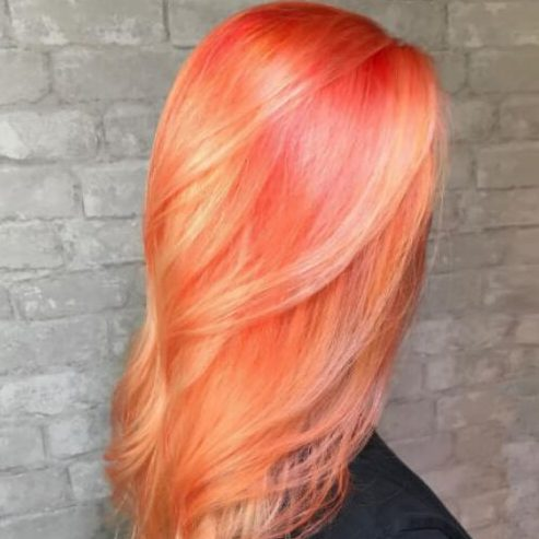 tangerine hair color for summer
