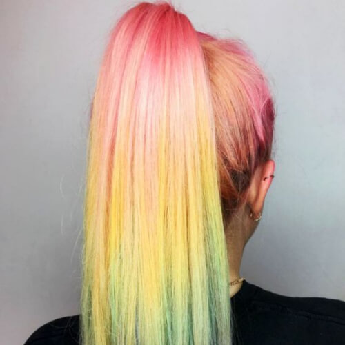 technicolor hair color for summer