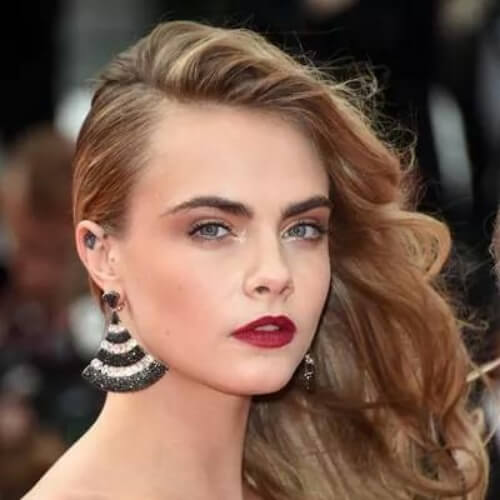cara hairstyles for wedding guest