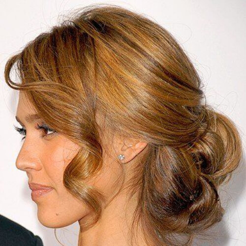 chignon hairstyles for wedding guest