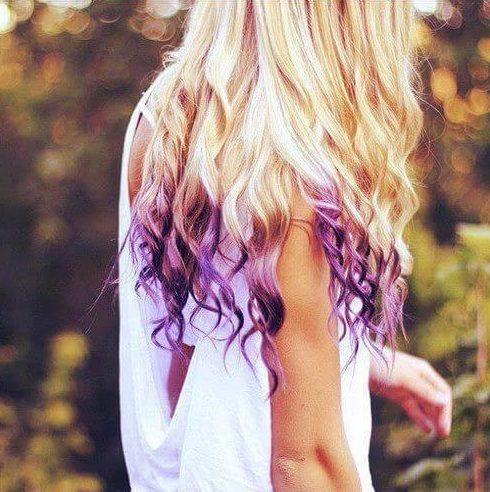 curly reverse ombre hair
