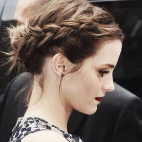 emma watson hairstyles for wedding guest