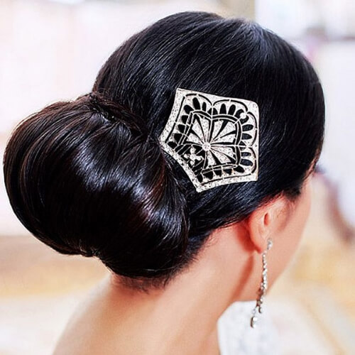 flamenco chignon hairstyles for wedding guest