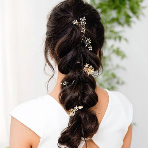 flower braid hairstyles for wedding guest