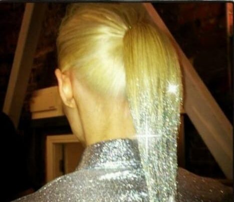 glitter reverse ombre hair