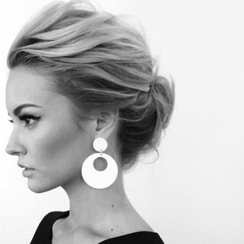 high dramatic hairstyles for wedding guest