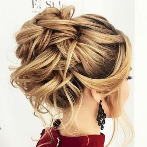intricate hairstyles for wedding guest