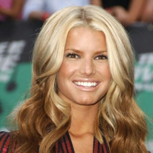 jessica simpson reverse ombre hair