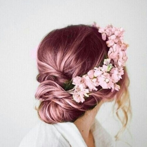 lilac hairstyles for wedding guest