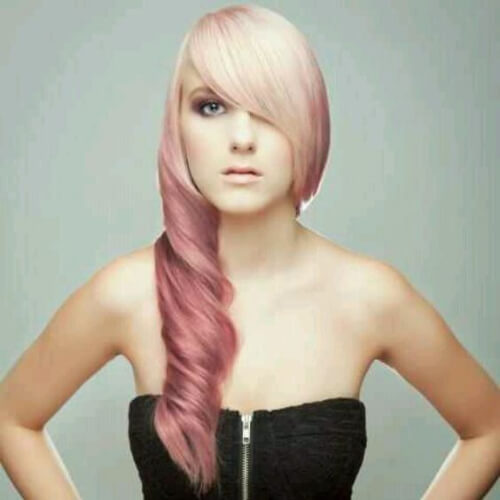 lilac reverse ombre hair