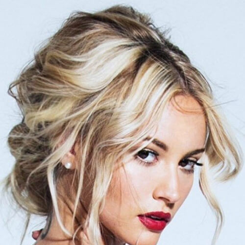 messy hairstyles for wedding guest