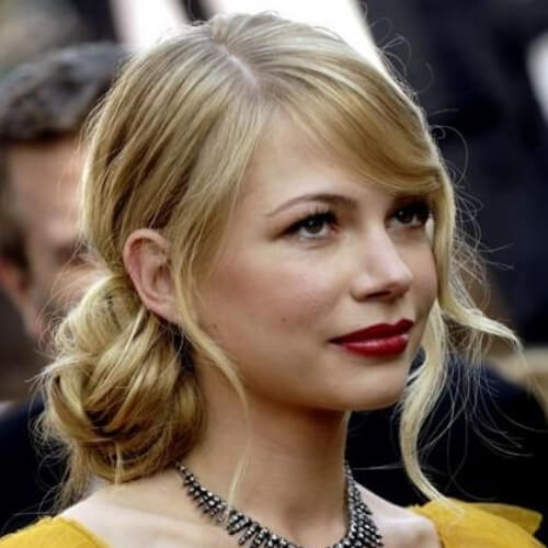 michelle williams hairstyles for wedding guest