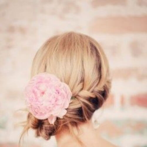 peony hairstyles for wedding guest