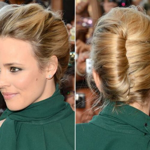 rachel mcadams hairstyles for wedding guest