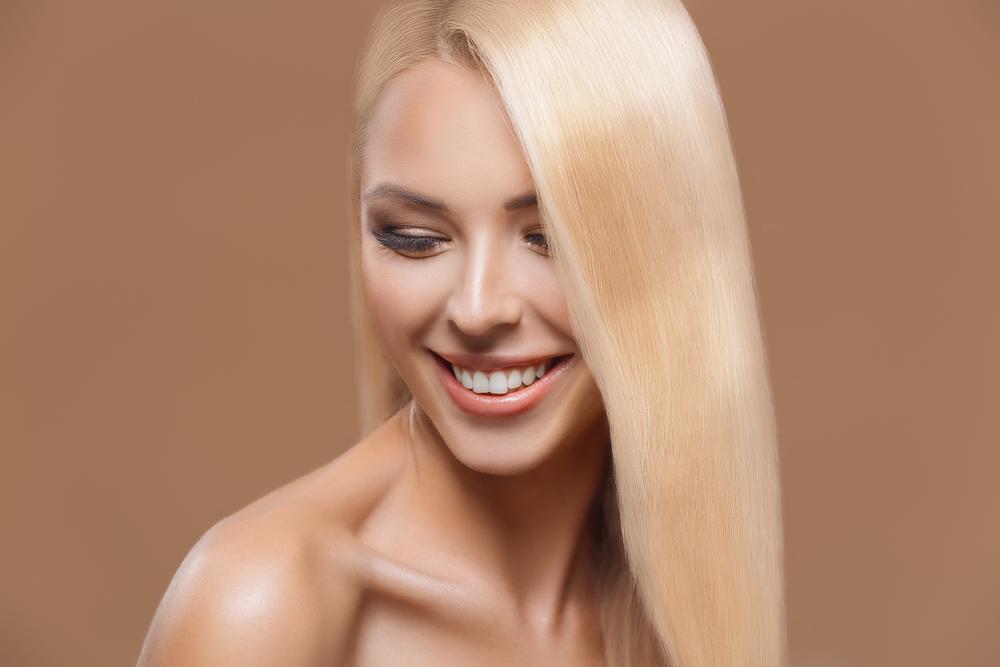 blonde hair woman