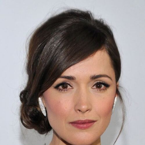 rose byrne hairstyles for wedding guest
