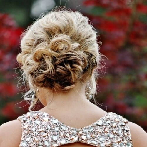 sparkling hairstyles for wedding guest