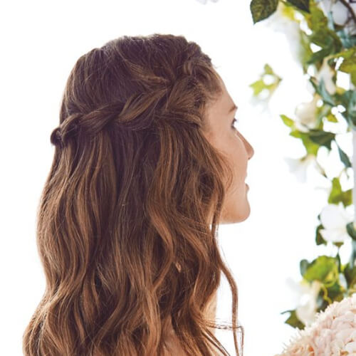 waterfall twisted braid hairstyles for wedding guest