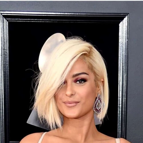 bebe rexha short straight hairstyles