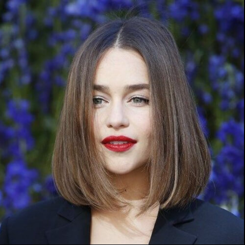 emilia clarke short straight hairstyles