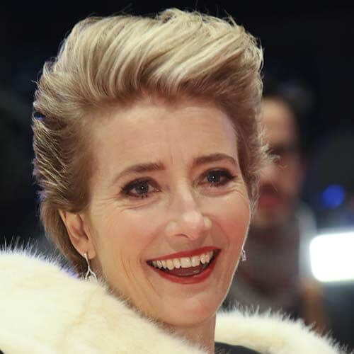emma thompson short straight hairstyles