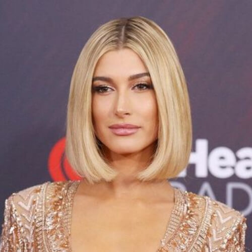 hailey baldwin short straight hairstyles