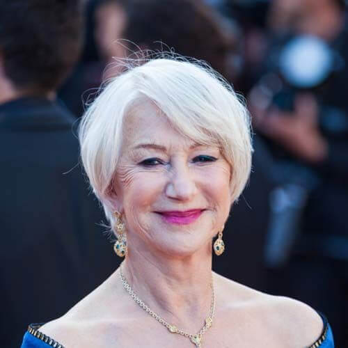 helen mirren short straight hairstyles