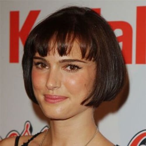 natalie portman short straight hairstyles