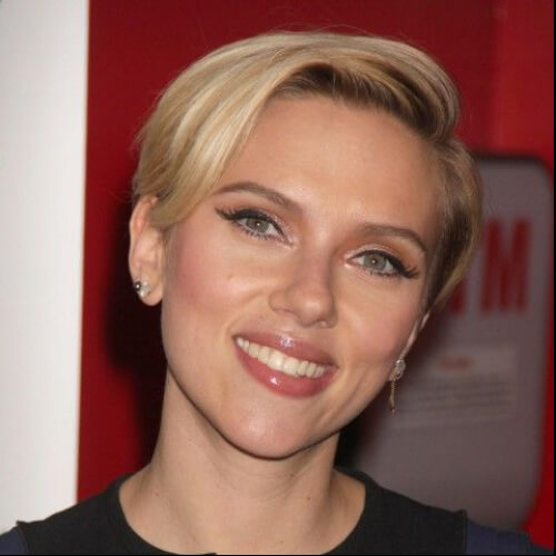 scarlet johansson short straight hairstyles