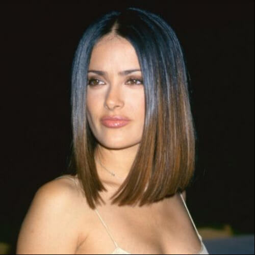 slma hayek short straight hairstyles