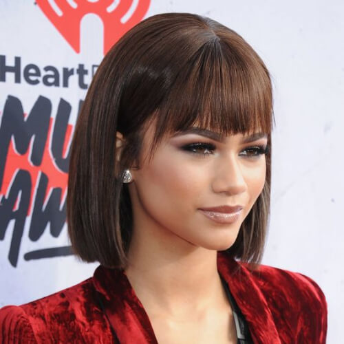 zendaya short straight hairstyles