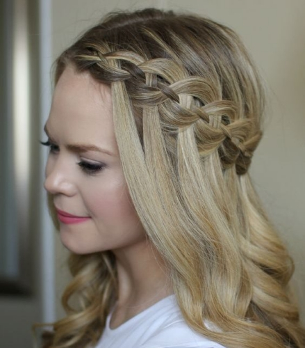 4 strand waterfall braid